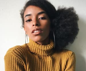 beauty, black women, and afro hair image