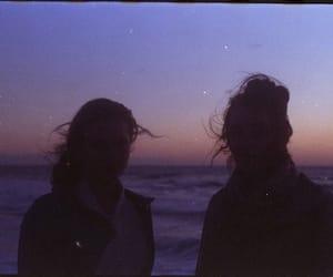 blue, grunge, and sunset image