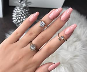 pink nails and nails goals image
