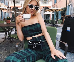 blond, coffee, and pants image