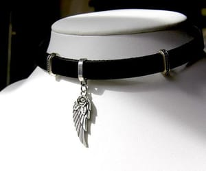 amulet, leather choker, and spiritual necklace image