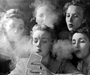 ladies, smoking, and vintage image