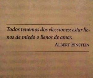 Albert Einstein, frases, and love image