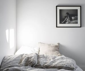bedroom, interior, and minimal image