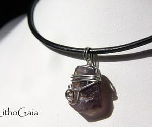 etsy, amethyst necklace, and gemstones jewelry image