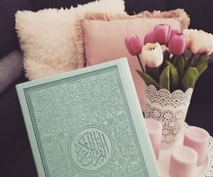 candles, cozy, and quran image