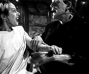 Boris Karloff, Bride of Frankenstein, and gif image