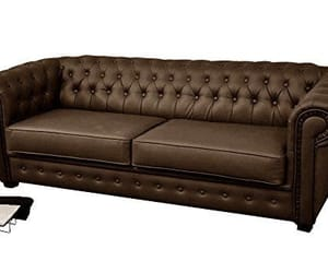sofa bed, red faux leather, and 2 seater image