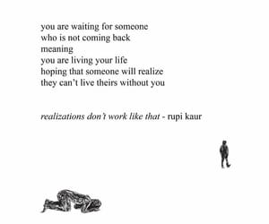 poem, quote, and waiting image