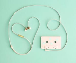 aesthetic, music, and green image
