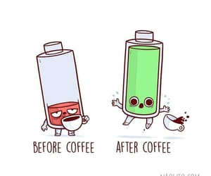 battery, cute, and coffee image