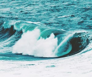 waves, blue, and beach image