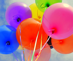 baloon, colours, and fun image