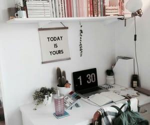room, desk, and inspiration image