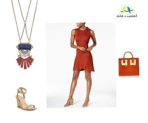 fashion, necklace, and spring image