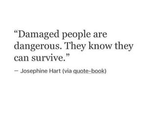 damaged, dangerous, and quotes image