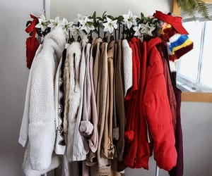 bedroom, decor, and clothing rack image