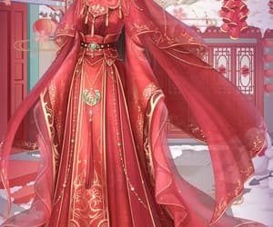 anime, red dress, and red queen image