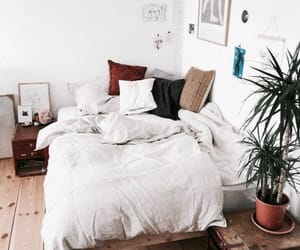 bed, interior, and pillow image