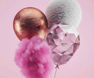 pink, balloons, and gold image