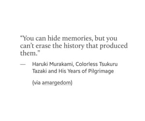 quotes, hide, and memories image