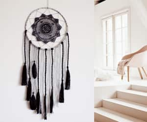 black, bohemian, and dreamcatcher image
