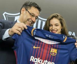 fc barcelona and barbara palvin image
