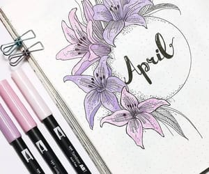 april, art, and diy image
