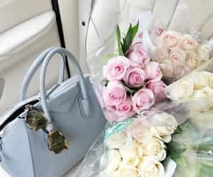 flowers, bag, and luxury image