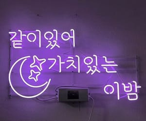 interior, korean, and neon sign image