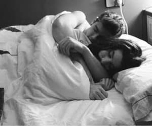 bed, cuddle, and hug image