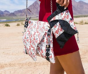 festival style, punk rock purse, and festival purse image