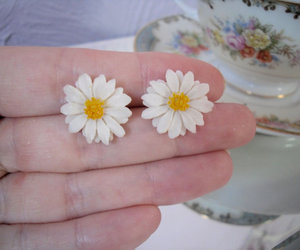daisies, daisy, and earrings image