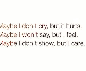 hurt, cry, and care image