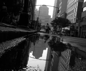 black and white, city, and dreamy image