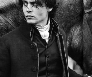 johnny depp, sleepy hollow, and black and white image
