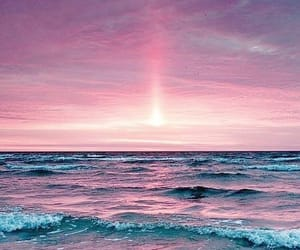beach, sunset, and wallpaper image