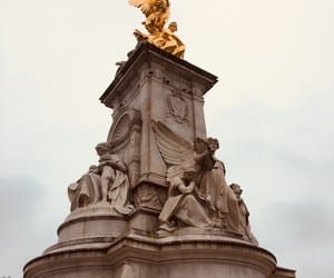 Buckingham palace, gold, and cold image