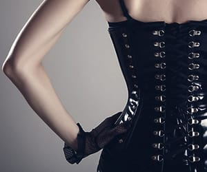 black, gothic, and sexy image