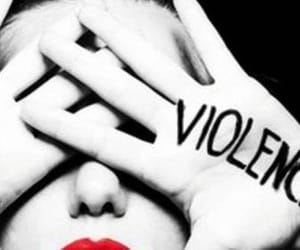 quote, stop violence, and asking for. image