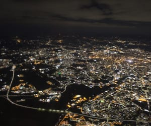 city, travel, and lights image