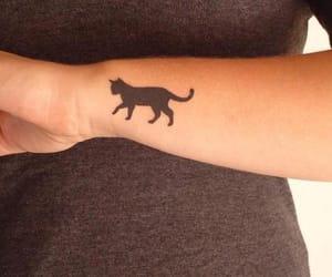 tattoo, cat, and black image