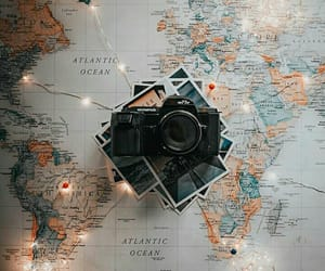 light, map, and travel image