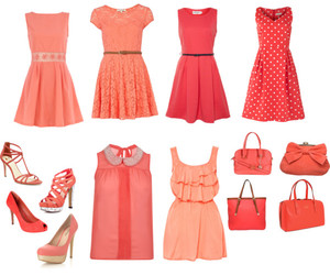 bags, coral, and dress image
