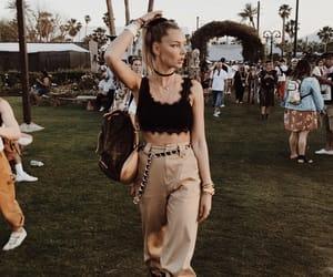 coachella, fashion, and festival image