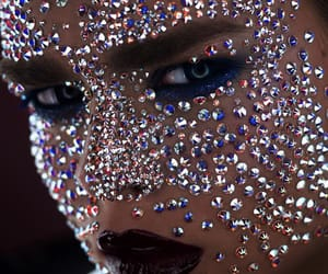 body art, glitter, and sparkles image