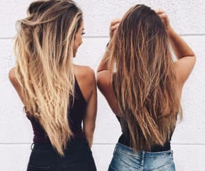 girls, hair, and frienship goals image