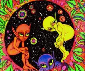 alien, art, and gif image