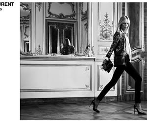 anja rubik, black and white, and campaign image