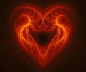 heart of heart, fractal spiral heart, and phi heart image